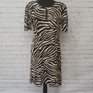 H&M animal print fit&flare dress Size 10